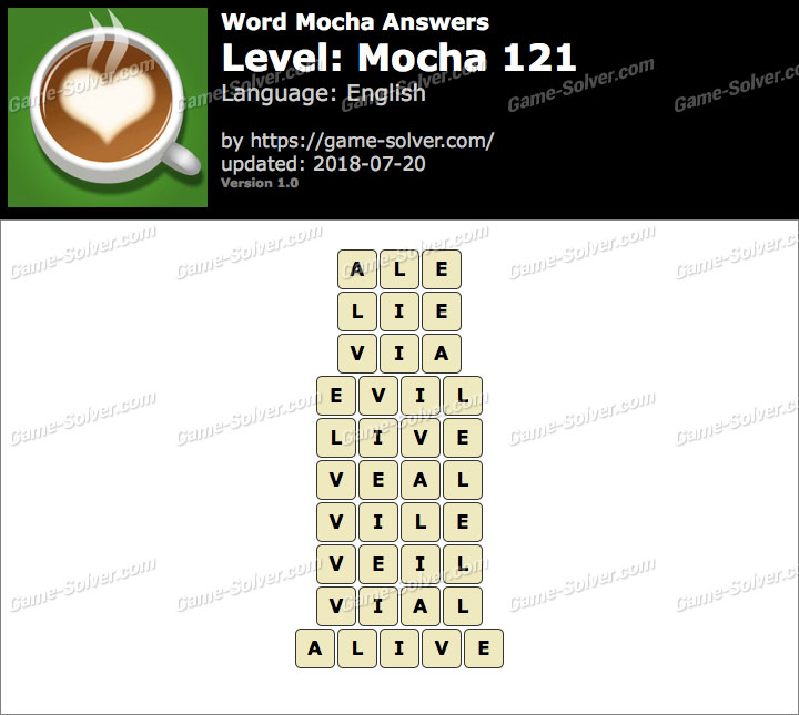 Word Mocha Mocha 121 Answers