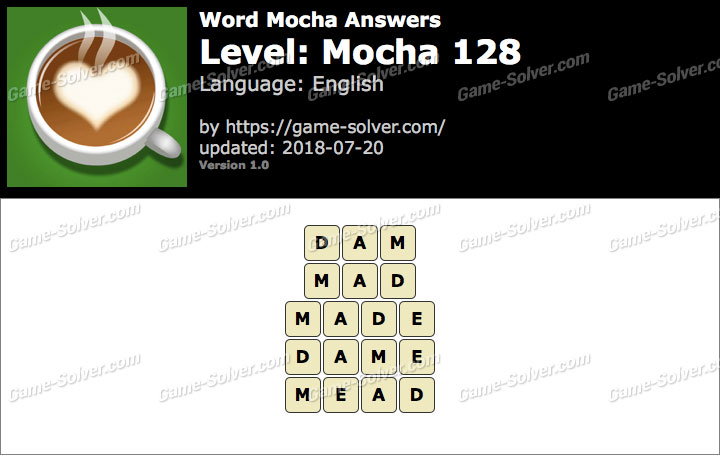 Word Mocha Mocha 128 Answers