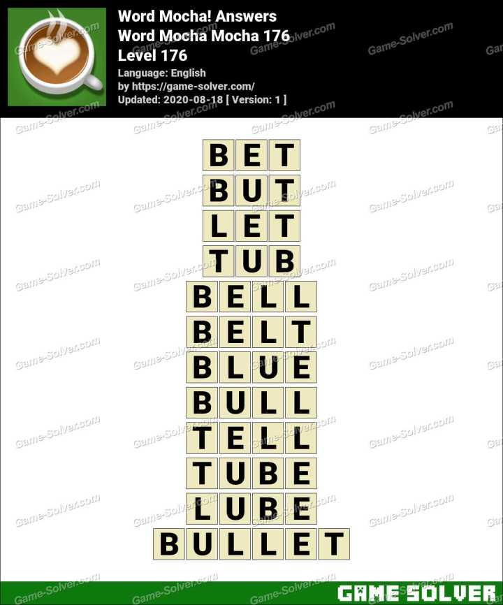 Word Mocha Mocha 176 Answers