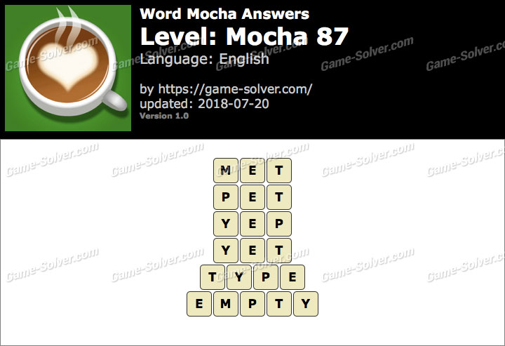 Word Mocha Mocha 87 Answers