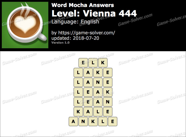 Word Mocha Vienna 444 Answers