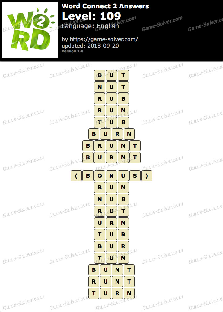 Word Connect 2 Level 109 Answers