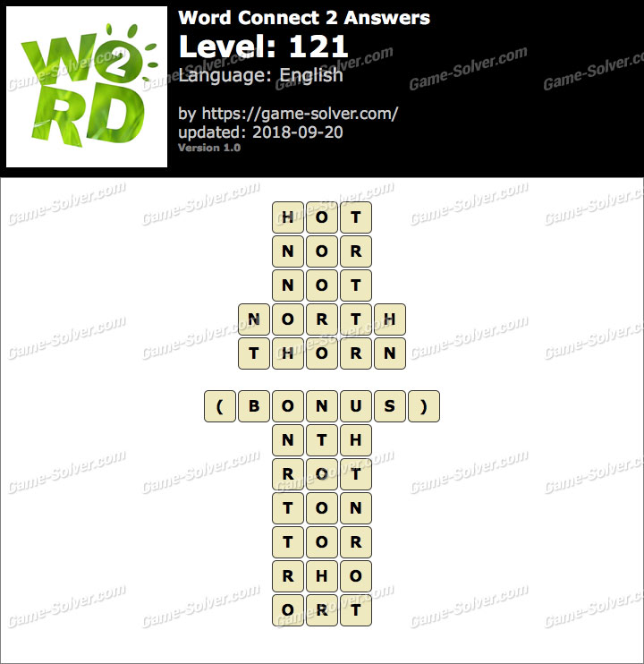 Word Connect 2 Level 121 Answers