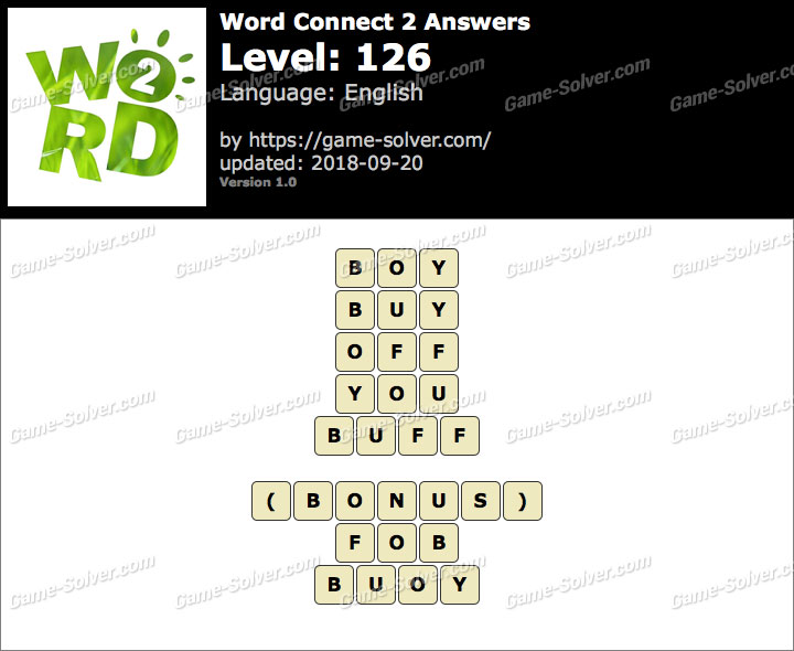 Word Connect 2 Level 126 Answers