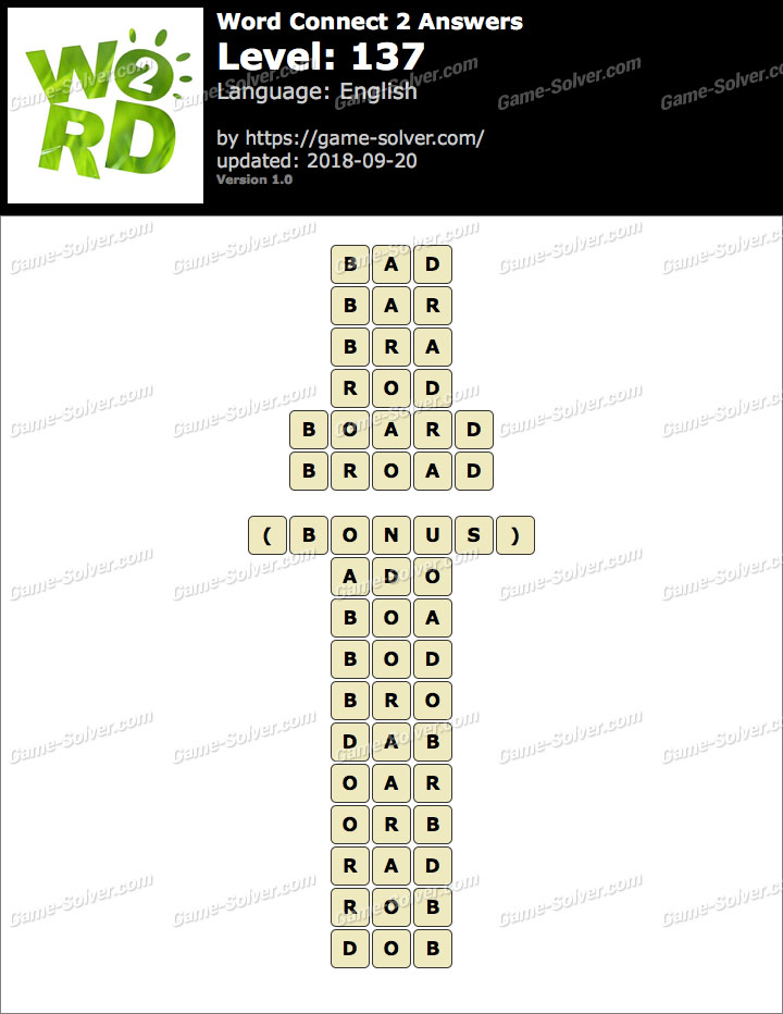 Word Connect 2 Level 137 Answers