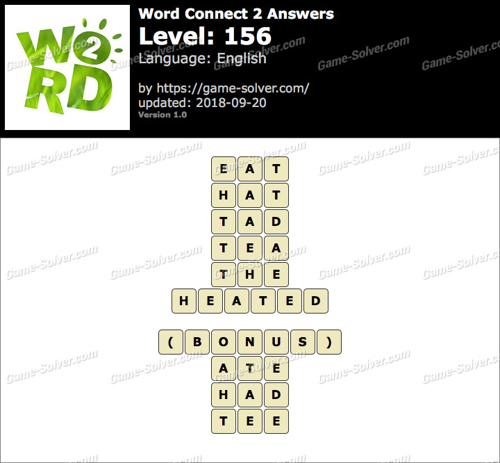Word Connect 2 Level 156 Answers