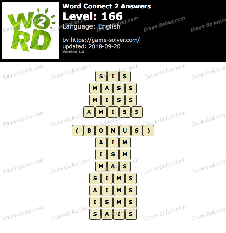 Word Connect 2 Level 166 Answers