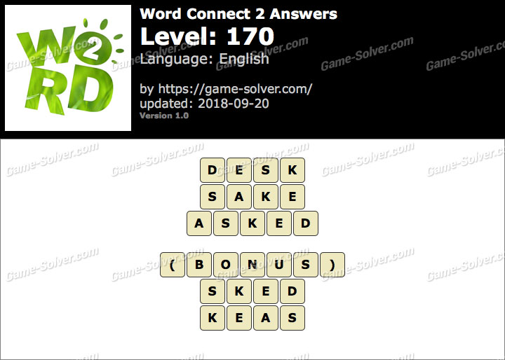 Word Connect 2 Level 170 Answers