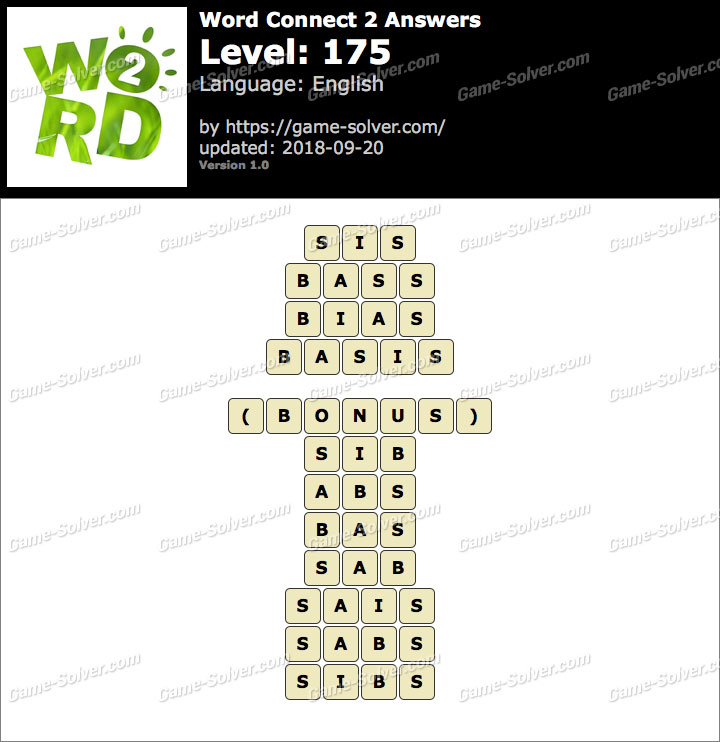 Word Connect 2 Level 175 Answers