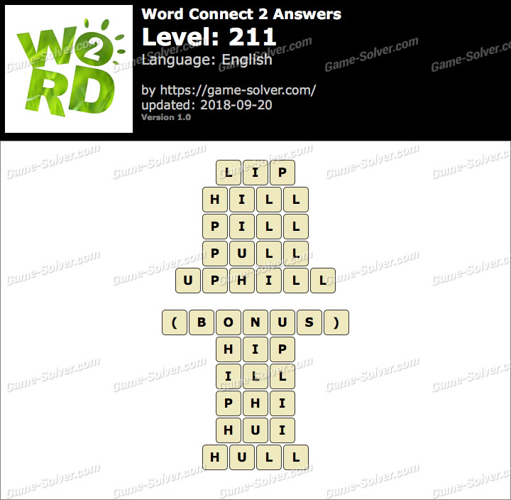Word Connect 2 Level 211 Answers