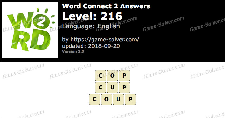 Word Connect 2 Level 216 Answers