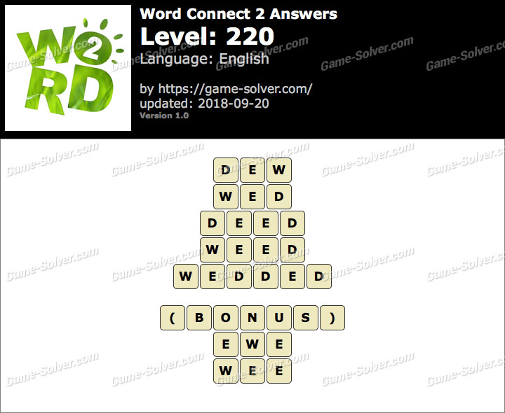 Word Connect 2 Level 220 Answers
