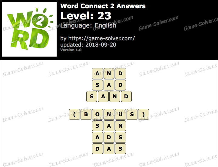 Word Connect 2 Level 23 Answers
