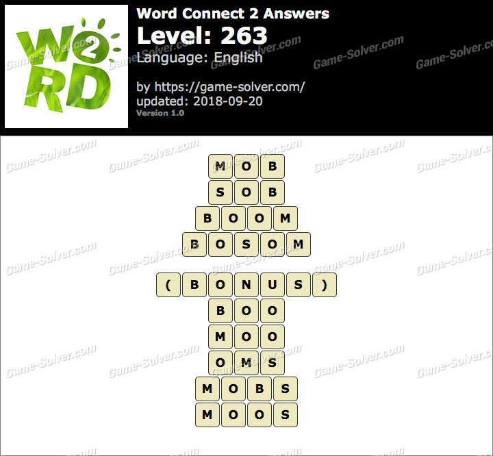 Word Connect 2 Level 263 Answers