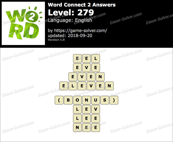 Word Connect 2 Level 279 Answers