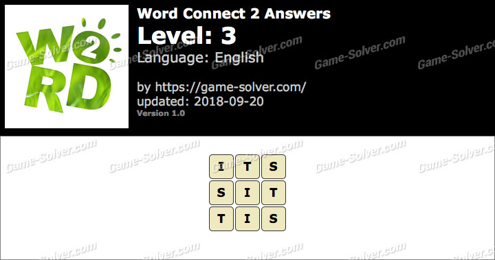 Word Connect 2 Level 3 Answers
