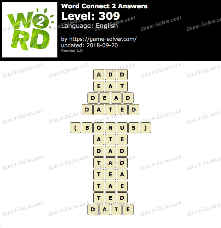 Word Connect 2 Level 309 Answers