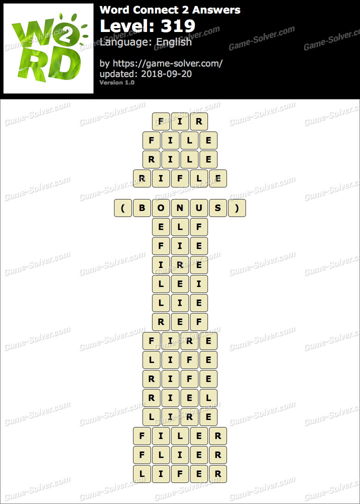 Word Connect 2 Level 319 Answers