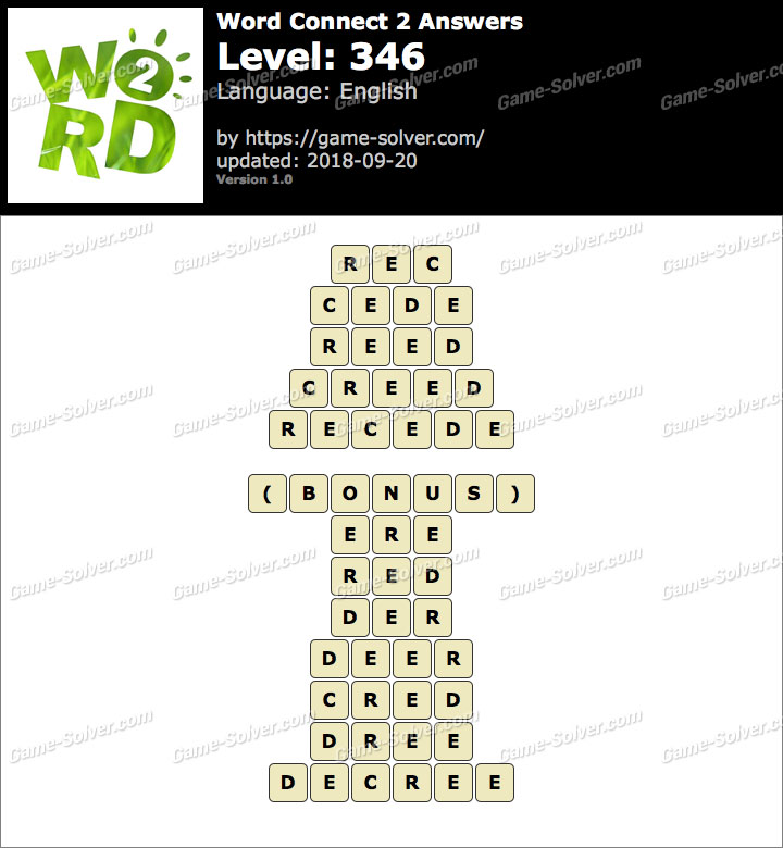 Word Connect 2 Level 346 Answers