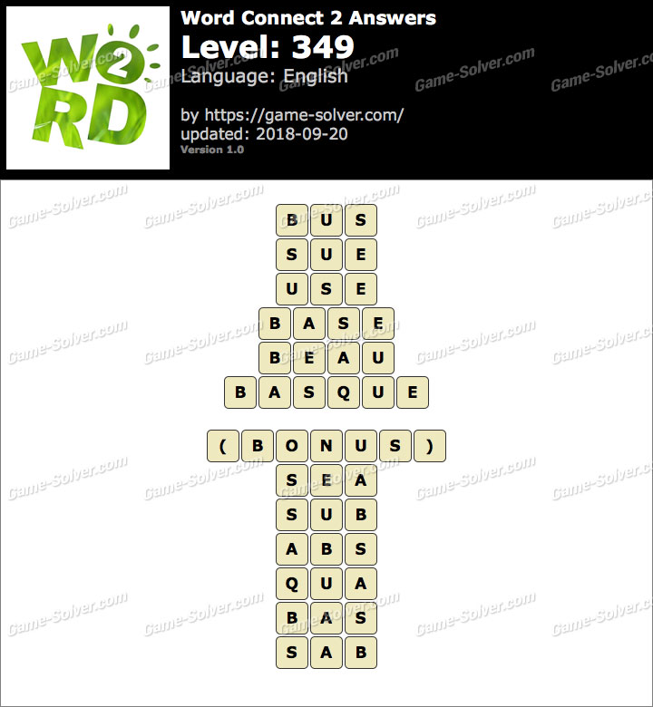 Word Connect 2 Level 349 Answers