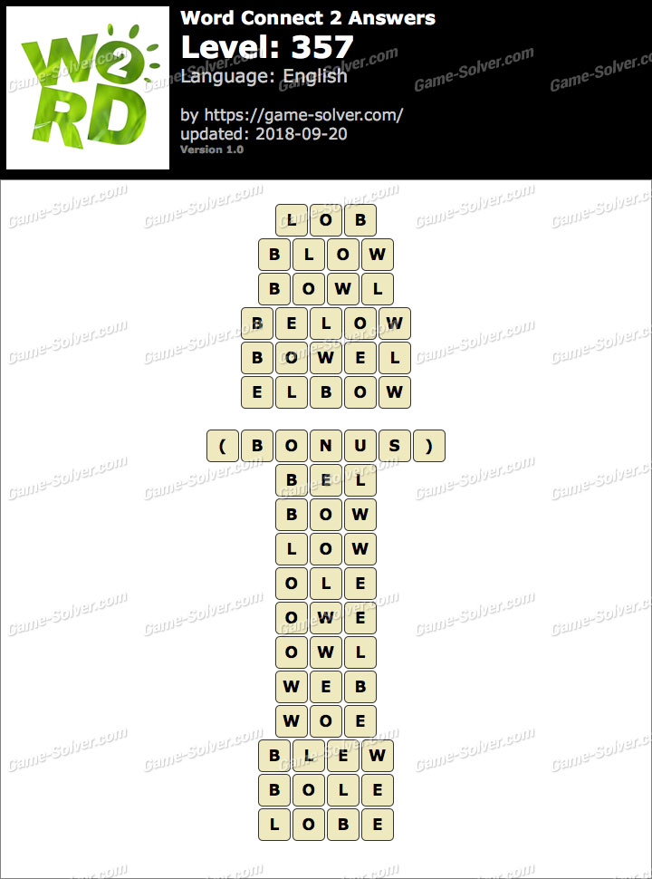 Word Connect 2 Level 357 Answers
