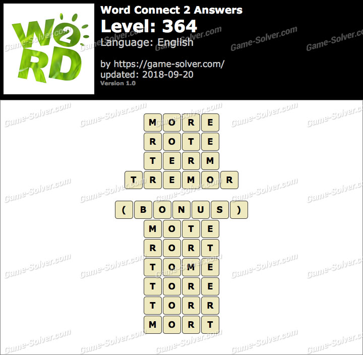 Word Connect 2 Level 364 Answers