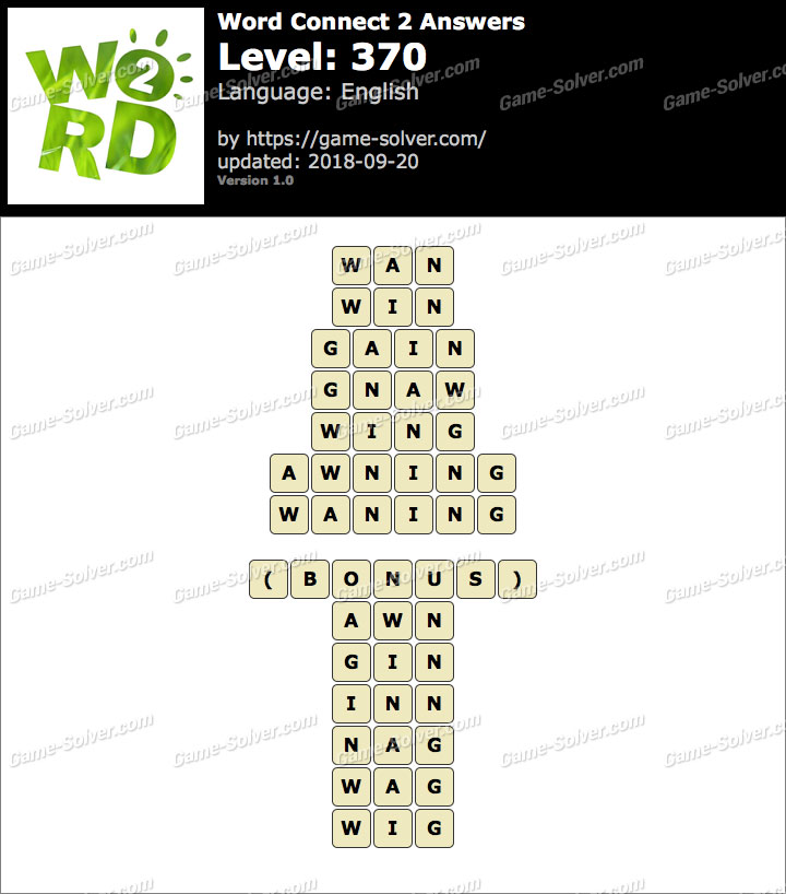 Word Connect 2 Level 370 Answers