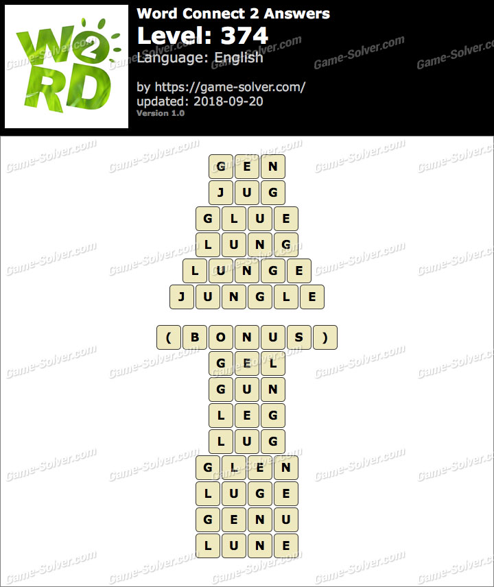 Word Connect 2 Level 374 Answers