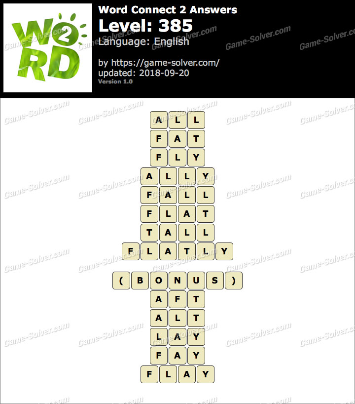 Word Connect 2 Level 385 Answers