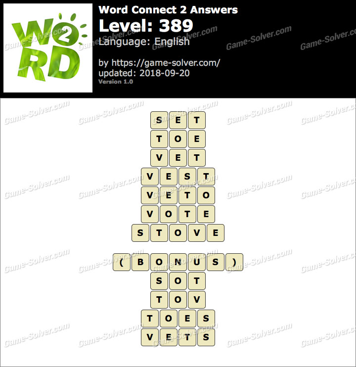 Word Connect 2 Level 389 Answers