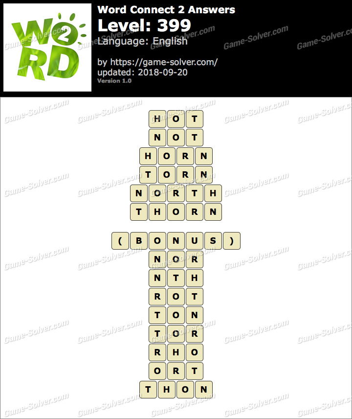 Word Connect 2 Level 399 Answers