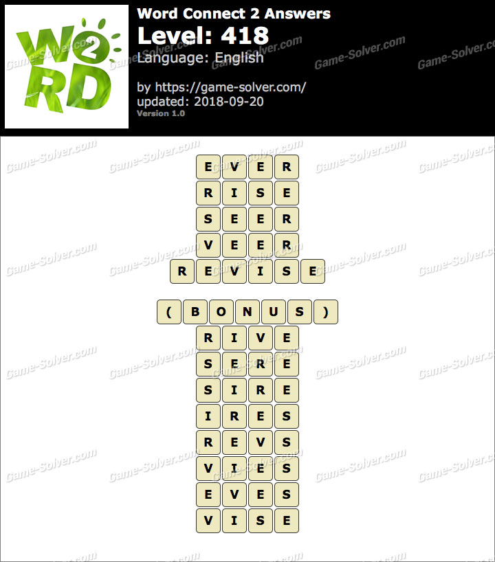 Word Connect 2 Level 418 Answers