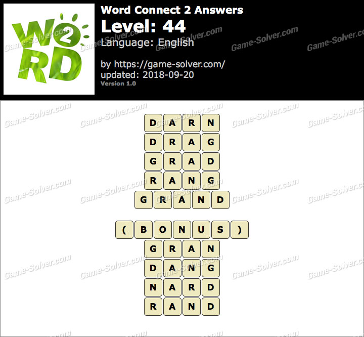 Word Connect 2 Level 44 Answers