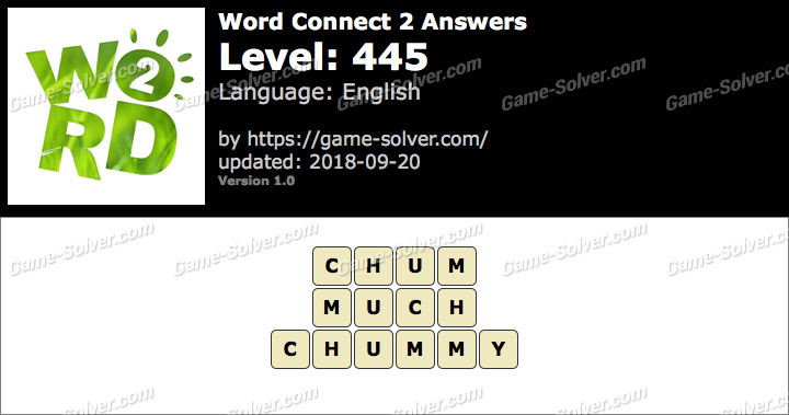Word Connect 2 Level 445 Answers