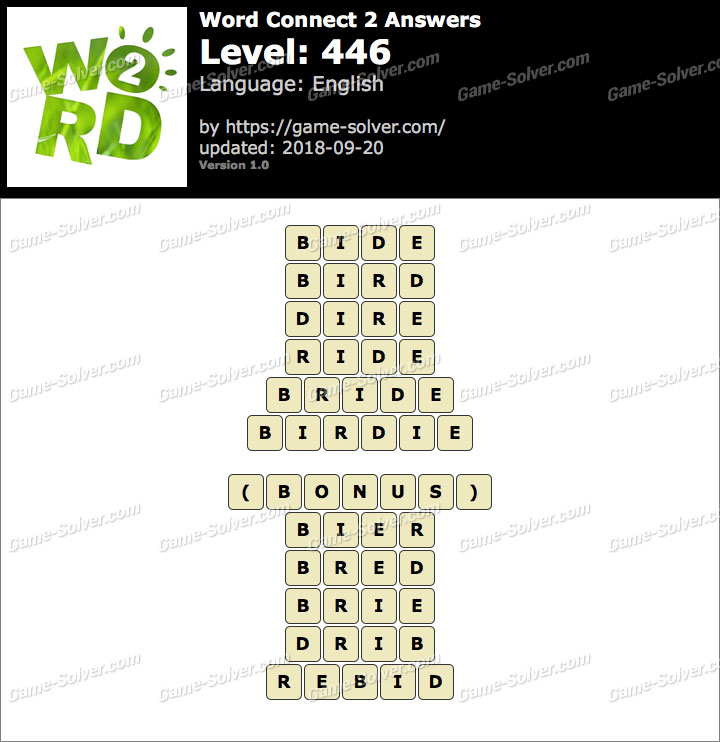 Word Connect 2 Level 446 Answers