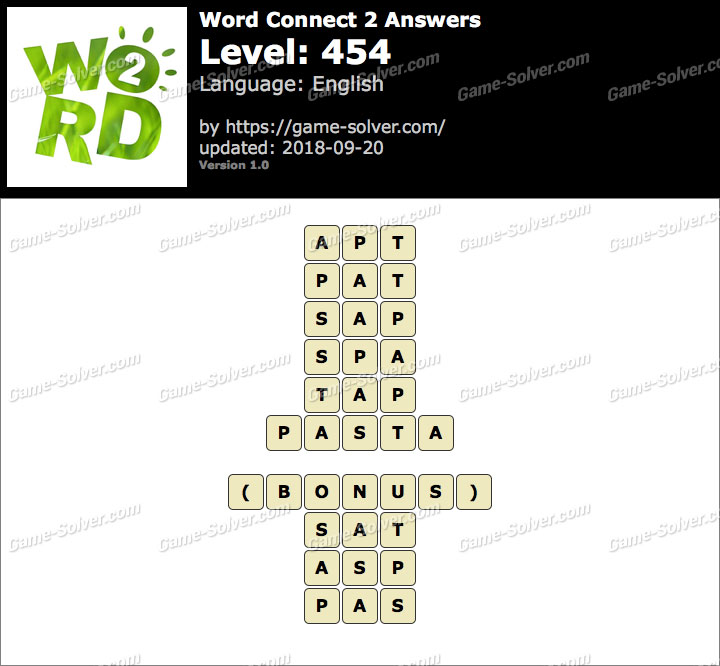 Word Connect 2 Level 454 Answers