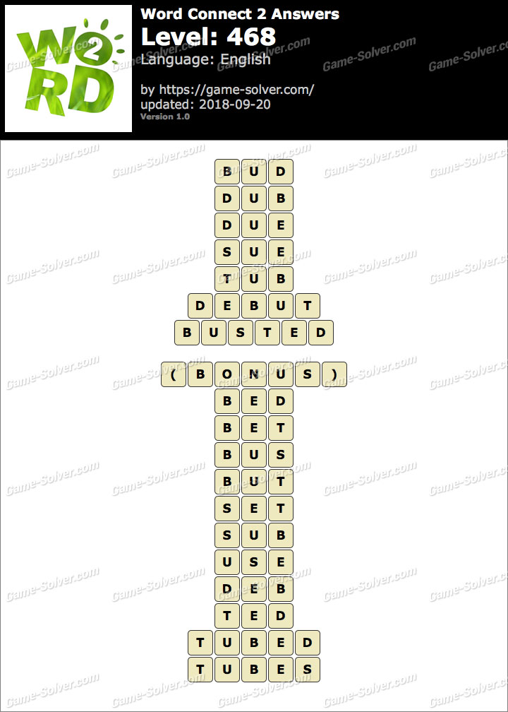 Word Connect 2 Level 468 Answers
