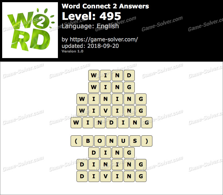Word Connect 2 Level 495 Answers