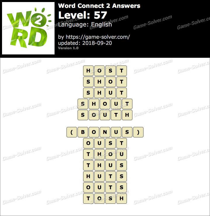 Word Connect 2 Level 57 Answers