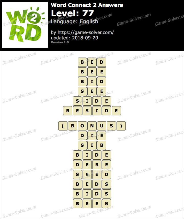 Word Connect 2 Level 77 Answers