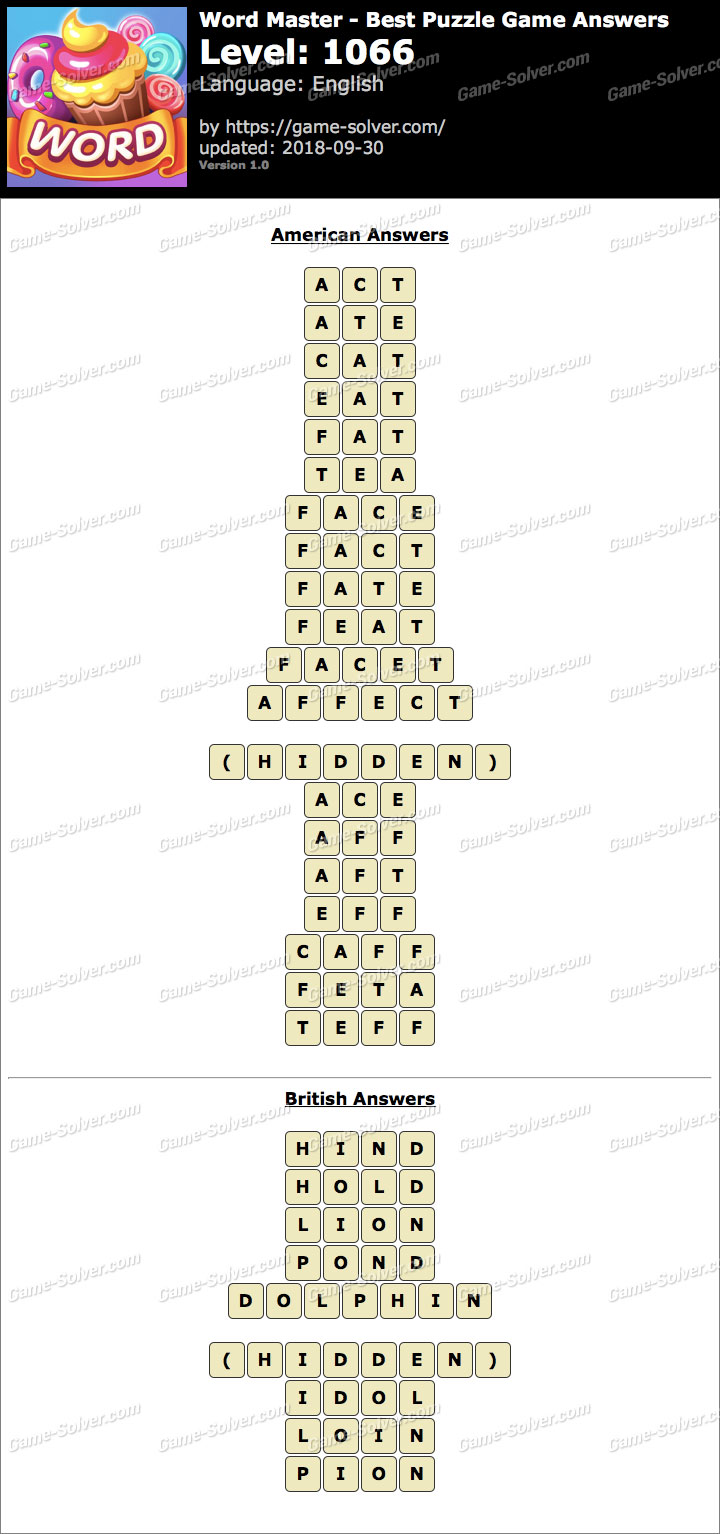 Word Master-Best Puzzle Game Level 1066 Answers