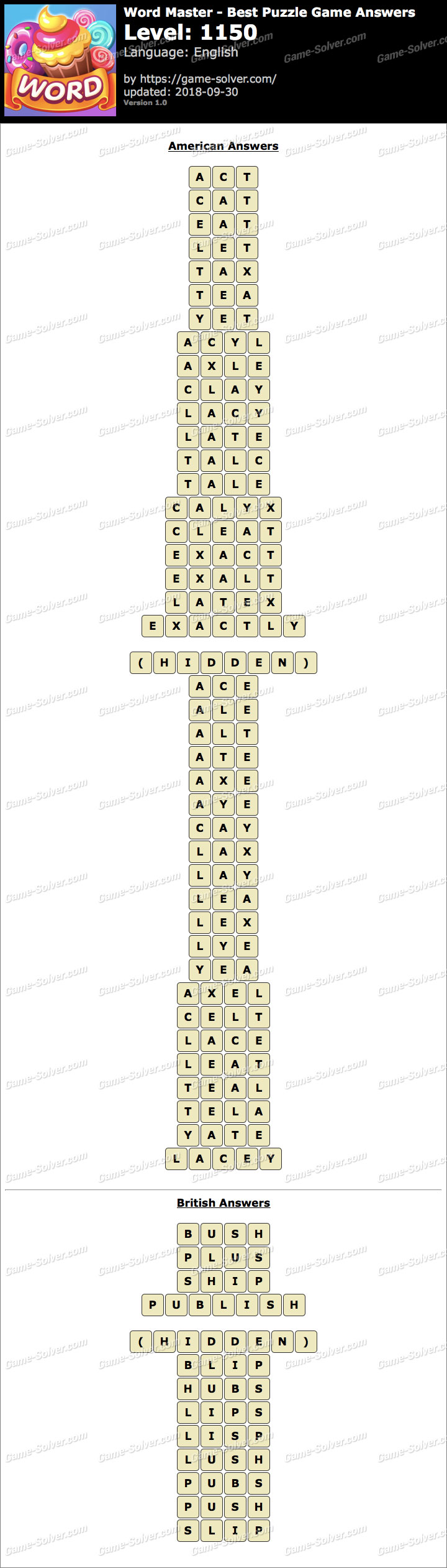 Word Master-Best Puzzle Game Level 1150 Answers