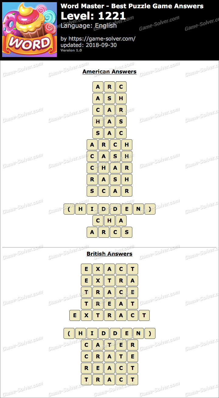 Word Master-Best Puzzle Game Level 1221 Answers