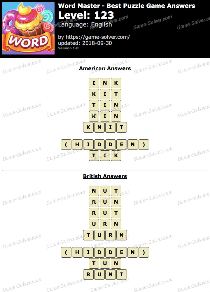 Word Master-Best Puzzle Game Level 123 Answers