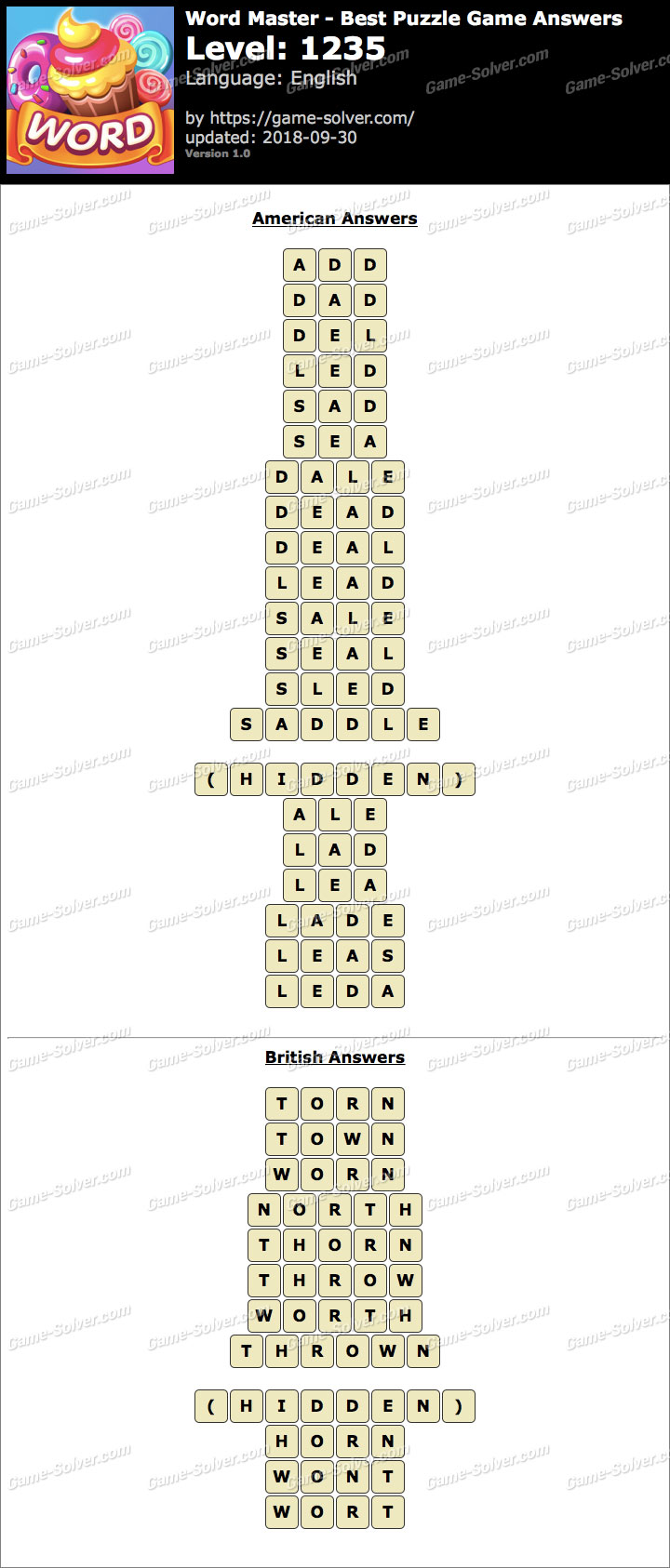 Word Master-Best Puzzle Game Level 1235 Answers
