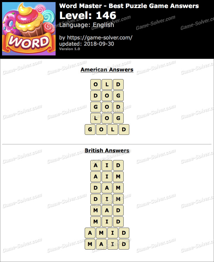 Word Master-Best Puzzle Game Level 146 Answers