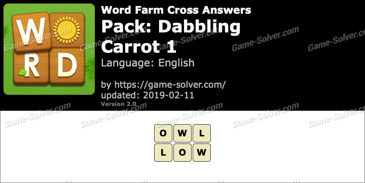 Word Farm Dabbling Carrot 1 Answers