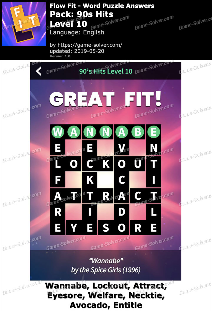 Flow Fit 90s Hits-Level 10 Answers