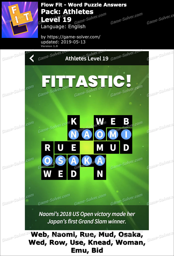Flow Fit Athletes-Level 19 Answers