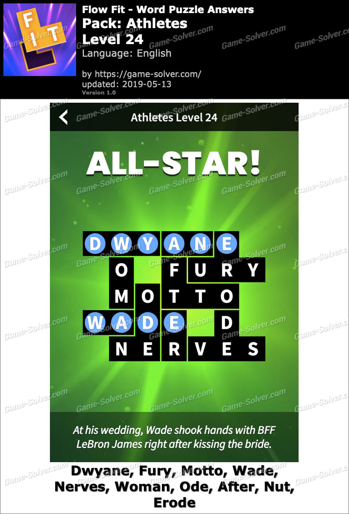 Flow Fit Athletes-Level 24 Answers